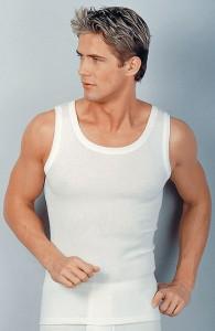 Medima Classic Herren-Achselhemd 20% Angora, weiß (Größe: L)
