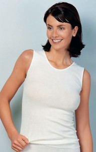 Medima Classic  Damen-Hemd ohne Arm 20%  Angora weiß (Größe: S)