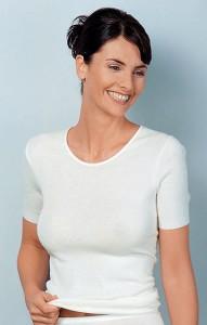 Medima Classic  Damen-Hemd 1/4 Arm 20%  Angora weiß (Größe: S)