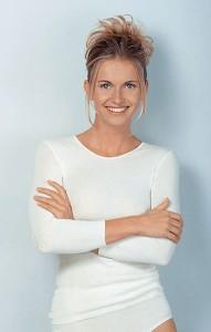 Medima Classic  Damen-Hemd 1/1 Arm 20%  Angora weiß (Größe: S)