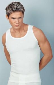 Medima  Classic Herren-Achselhemd 40% Angora, weiß (Größe: M)