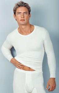 Medima Classic  Herren-Hemd 1/1 Arm 40% Angora, weiß (Größe: M)