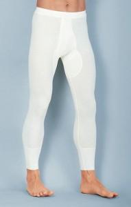 Medima  Classic Herren-Hose lang mit Eingriff 40% Angora, weiß (Größe: M)