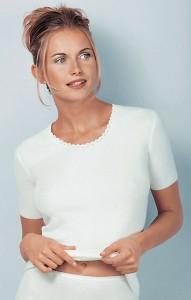 Medima Classic Damen-Hemd 1/4 Arm  40%  Angora weiß (Größe: S)