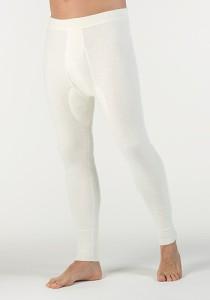 Medima  Classic Herren-Hose lang 100%  Angora weiß (Größe: L)