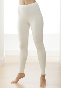 Medima Classic  Damen-Hose lang 100%  Angora weiß (Größe: L)