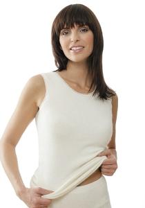 Medima Classic  Damen-Hemd ohne Arm  100%  Angora weiß (Größe: L)