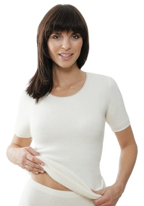 Medima Classic  Damen-Hemd 1/4 Arm  100%  Angora weiß (Größe: L)