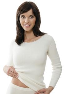 Medima Classic  Damen-Hemd 1/1 Arm  100%  Angora weiß (Größe: L)