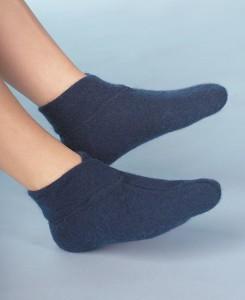 Medima Classic Fußwärmer mit extra weitem Bündchen, Marine (Größen: S)