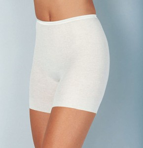 Medima Classic Damen-Schlüpfer normal Plus Seide weiß (Größe: S)