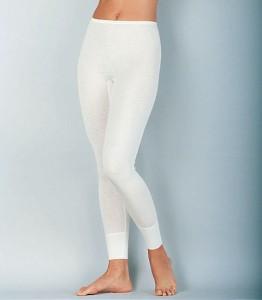 Medima Classic  Damen-Hose lang Plus Seide weiß (Größe: S)
