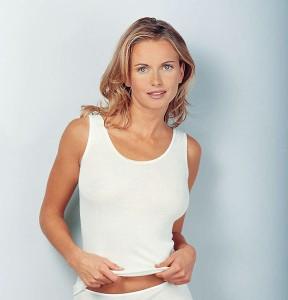 Medima  Classic  Damen-Hemd ohne Arm Plus Seide weiß (Größe: S)
