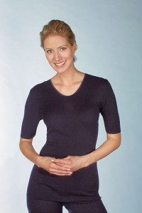 Medima  Classic Damen-Hemd 1/4 Arm Plus Seide schwarz (Größe: S)