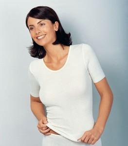Medima Classic  Damen-Hemd 1/4 Arm Plus Seide weiß (Größe: S)