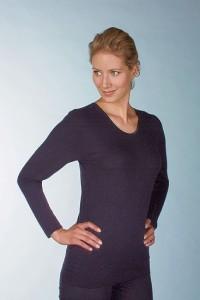 Medima  Classic Damen-Hemd 1/1 Arm Plus Seide schwarz (Größe: S)