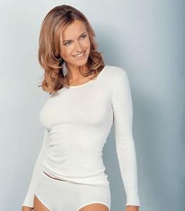 Medima Classic Damen-Hemd 1/1 Arm Plus Seide weiß (Größe: S)