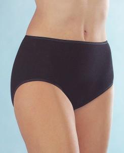 Medima  Lingerie Kaschmir/Seide  Damen-Taillenslip  schwarz (Größe: S)