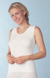 Medima Lingerie Kaschmir/Seide Damen-Hemd ohne Arm  weiß (Größe: S)