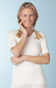 Medima Lingerie Kaschmir/Seide Damen-Hemd 1/4 Arm  weiß (Größe: S)