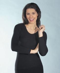 Medima  Lingerie Damen-Hemd 1/1 Arm Kaschmir/Seide schwarz (Größe: S)