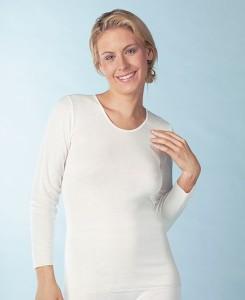 Medima Lingerie Kaschmir/Seide Damen-Hemd 1/1 Arm  weiß (Größe: S)