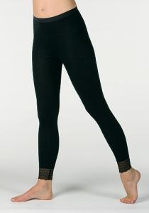 Medima Lingerie  Damen-Hose lang, Beinspitze 100% Seide schwarz (Größe: L)