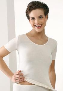 Medima  Lingerie  Damen-Hemd 1/4 Arm 100% Seide weiß (Größe: L)