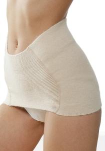 Medima Classic ThermoAS Rückenwärmer mit schmalem Bauchteil, weiß (Größe: L)