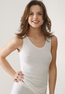 Medima Lingerie Damen-Hemd ohne Arm Air to Wear weiß (Größe: S)