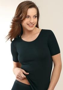 Medima  Lingerie Damen-Hemd 1/4 Arm Air to Wear schwarz (Größe: S)