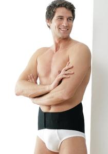 Medima Classic ThermoAS Rückenwärmer mit Klettverschluss, schwarz (Größe: L)