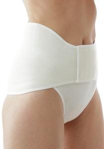Medima Classic ThermoAS Rückenwärmer mit Klettverschluss, weiß (Größe: L)