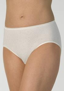 Medima Classic Damen-Slip Angora/Baumwolle weiß (Größe: S)