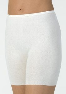 Medima Classic Damen-Schlüpfer Angora/Baumwolle weiß (Größe: S)