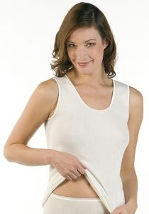 Medima Classic Damen-Hemd ohne Arm Angora/Baumwolle weiß (Größe: S)