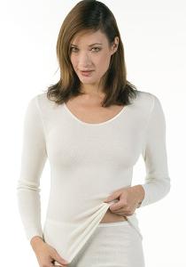 Medima Classic  Damen-Hemd 1/1 Arm Angora/Baumwolle weiß (Größe: L)