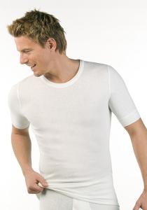 Medima Classic Herren-Hemd 1/4 Arm Angora/Baumwolle weiß (Größe: M)