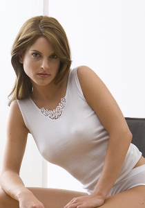 Medima Lingerie Damen-Vollachselhemd mit Spitze weiß (Größe: S)