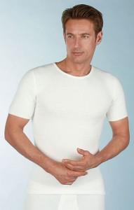 Medima Classic Herren-Hemd 1/4 Arm 50%  Angora weiß (Größen: L)