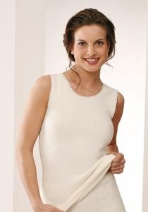 Medima  Classic  Damen-Hemd ohne Arm  50%  Angora weiß (Größe: L)