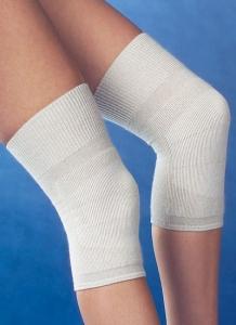 Medima Antisept Thermo-Kniewärmer bi-elastisch mit 30% Angora, naturmelange (Größe: L)