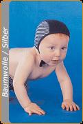 Medima Antisept Baby-Mütze, blau-weiß geringelt (Größe: Gr. 2)