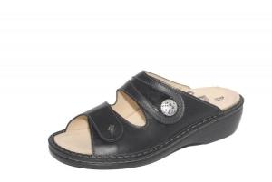 FinnComfort Sandale MIRA-SOFT schwarz Nappaseda/Knautschlack (Größe: 36)