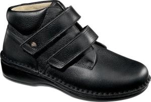FinnComfort - Prophylaxe Damen-Stiefel 96107 mit  Klettverschluss schwarz (Größe: 42)