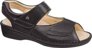 FinnComfort - Prophylaxe  Sandale 96401 NappaSeda Schwarz (Größe: 41)