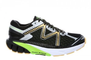 MBT Schuh Running Men?s GT 16 M BLACK / LIME GREEN/ ORANGE (Größen:: 43 1/2)