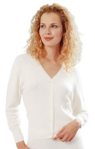 Medima Classic Damen-Bettjäckchen  50%  Angora weiß (Größe: L)