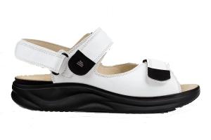 Finnamic Sandale Naxos  Weiß/Schwarz (Größe: 3 1/2)