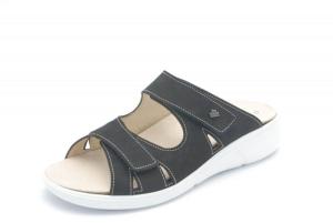 FinnRelax Damen Pantolette PALAU schwarz (Größe: 39)